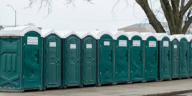 Porta-potties will get you in the Christmas spirit!